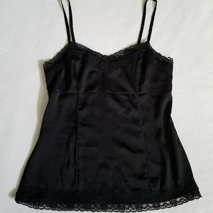 White House Black Market cami camisol black lace M